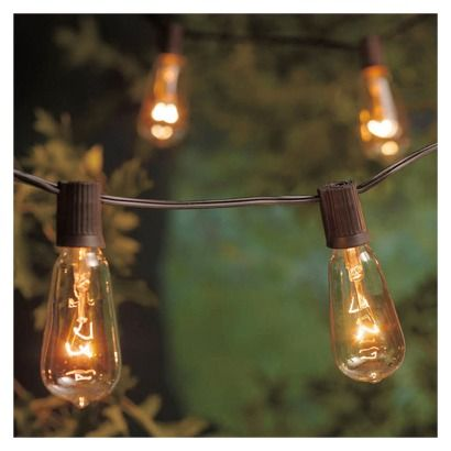 Edison filament bulb string lights Inspiration for the Home Pinterest Lighting, Backyards ...