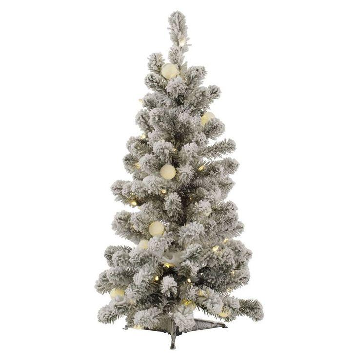 Vickerman Flocked Kodiak Pre-lit LED Christmas Tree Warm White - A146831LED