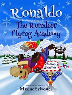 Sincerely Stacie: Children's Book Review: Ronaldo The Reindeer Flying Academy by Maxine Sylvester #childrensbook #chapterbook #Christmas #northpole #reindeer #fiction #bookreview #kidsbook