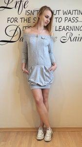 Bawełniana sukienka z zamkiem by o la la