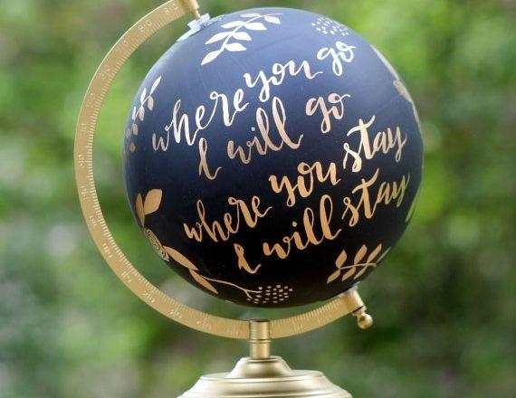 Stof die globe af! Want superleuk voor in huis