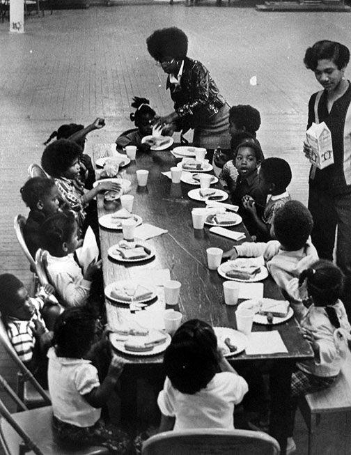 Black Panther free breakfast program. San Francisco 1968l