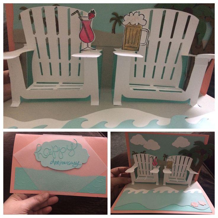 Double Adirondack chair anniversary card
