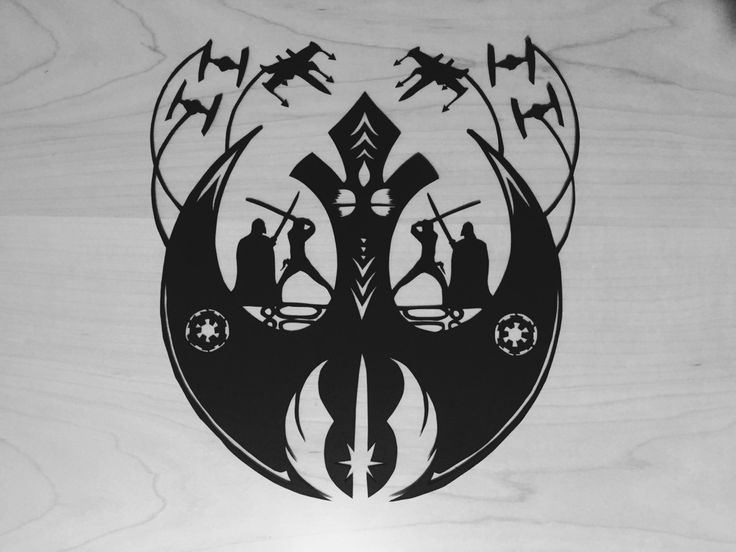 Star Wars paper cut out by ShortyDooWopp on Etsy
