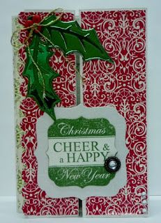 BaRb'n'ShEll Creations - Double gatefold Holly card, Kaszazz - BaRb