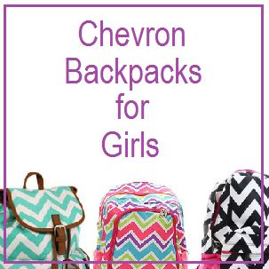 Sales and Discounts on Chevron Backpacks for Girls - Great selection of colors and styles to choose from.