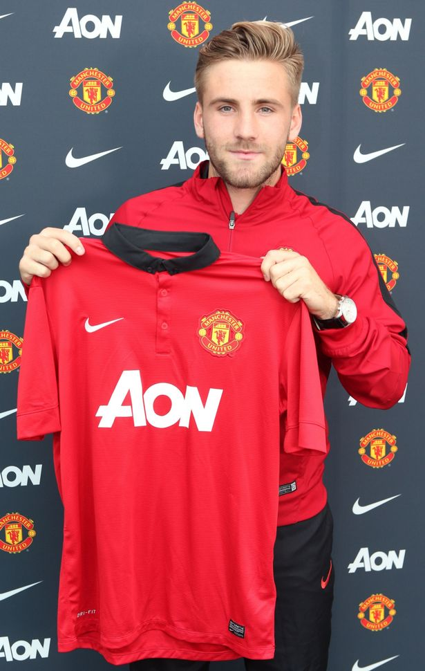 Shaw is now a Man United player after signing a four-year deal