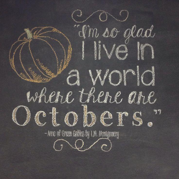 October Chalkboard Wall