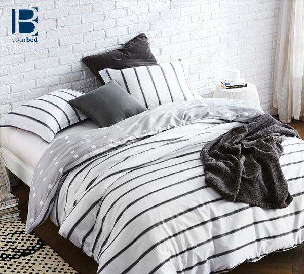Protect your comforter in #style ! With this #Byourbed Pin Tuck #Duvet_Cover, you can enjoy #White_Bedding without the worry of dirtying your comforter. You cannot go wrong with adding this #Fashionable_Design to your #Bedroom_Decor . #Stripes #Black_and_White #Unique_Style #Classic_Style #Luxury #Bedding #Bedroom_Style #BYB
