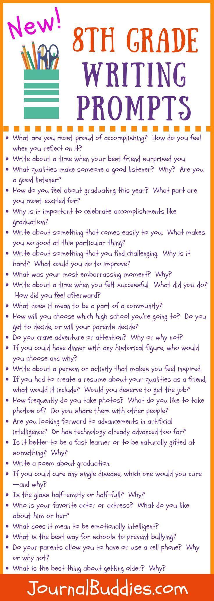 New 8th Grade Writing Prompts 8th Grade Writing Homeschool Writing 8th Grade Reading [ 2061 x 736 Pixel ]