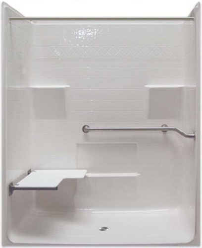 Freedom ADA Roll In Shower, X With Left Seat. Shower Stalls For  Handicapped, 1 Piece Construction. Contact Freedom Showers For A Quick  Online Shower Quote.