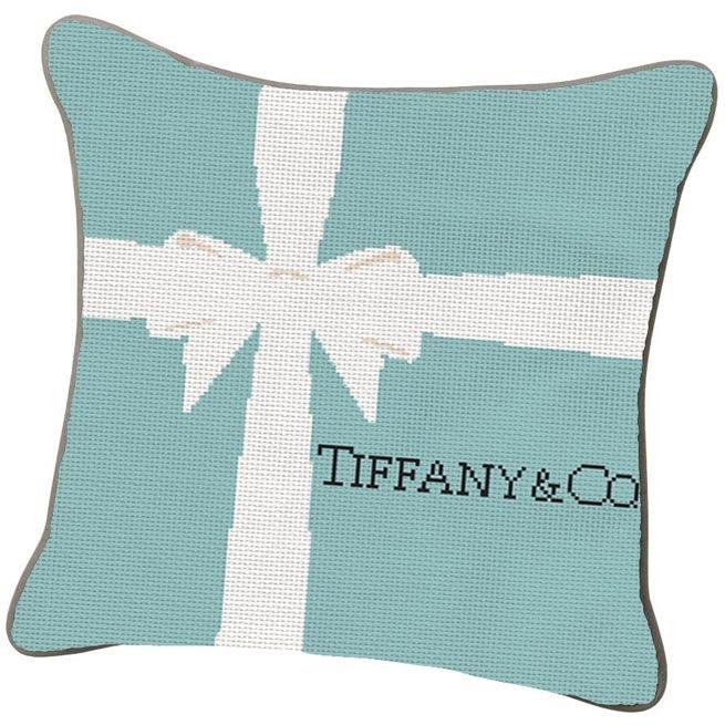 IT'S NEEDLEPOINT, PEOPLE!!  Tiffany's Little Blue Box Needle Craft Graph PDF File. $7.00, via Etsy.