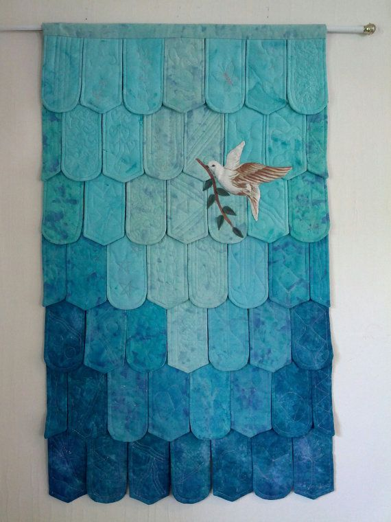Dove of Peace Quilted Wall Hanging by HartonArt on Etsy, $300.00
