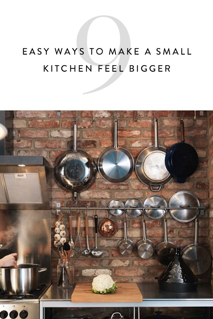 9 Easy Ways to Make a Small Kitchen Feel Bigger via @PureWow via @PureWow