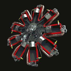 Rotary engine in action