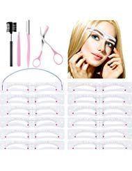 12 Stück Augenbrauenschablonen Augenbrauenform Schablonen – Beauty – #Aug …  …