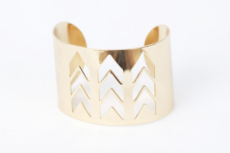 Capture the power of the sun with this ancient Grecian styled triple chevron cuff; the perfect mix of brilliance and classic beauty.  www.mooreaseal.com