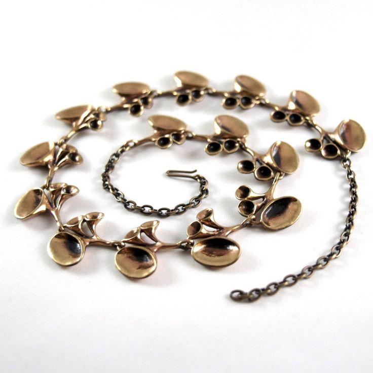 Hannu Ikonen Reindeer Moss Chain Necklace - Bronze