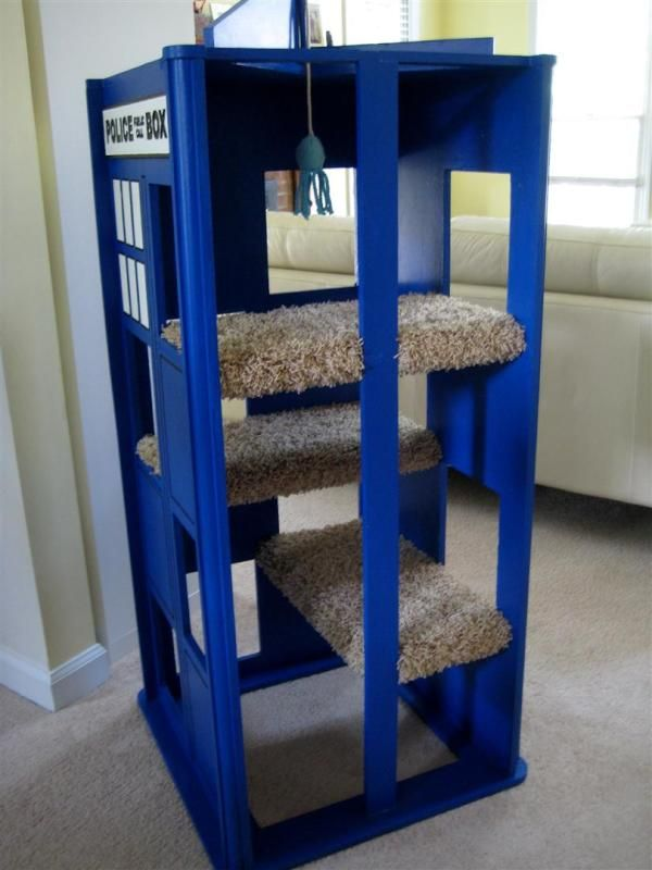 Tardis cat tower, anyone?