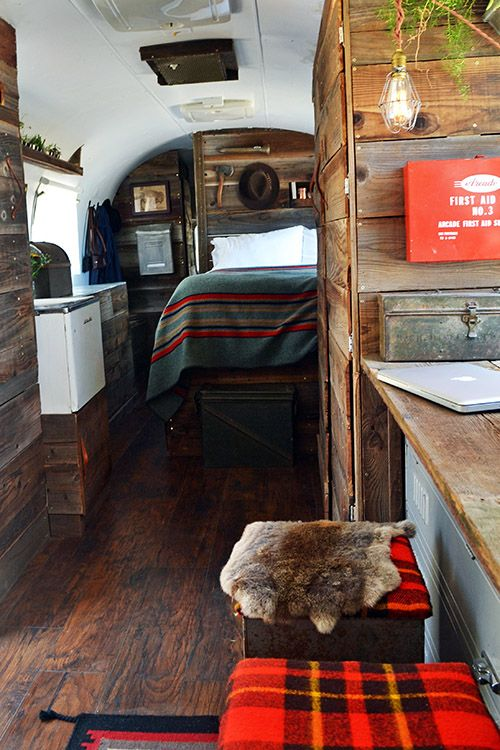 Mackenzie Edgerton and Blaine Vossler converted a seriously weatherworn 1979 Airstream trailer into a studio.