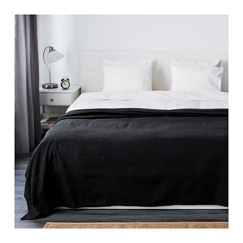 IKEA - INDIRA, Copriletto, 250x250 cm, , Questo copriletto in cotone tessuto è caldo, confortevole e decorativo.