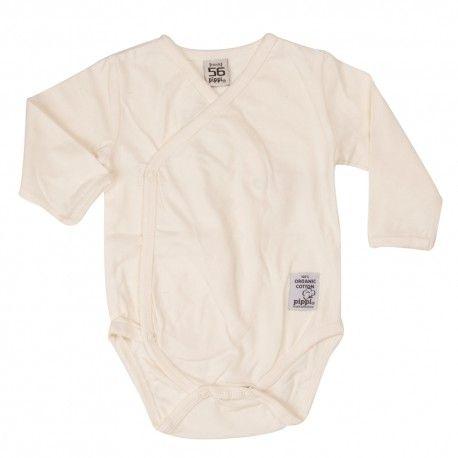 Wrap-around body long sleeve, off-white, Pippi