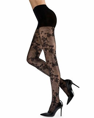 7b12fcfd9fc Natori Designer Scarlet Lace Sheer Floral-Pattern Control-Top Tights ...