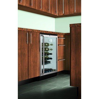 Summit Appliance Wine Cellar with Factory Installed Lock in Black SWC6GBLBISH by Summit Appliance. $1034.10. SWC6GBLBISH Features: -Wine cellar.-Built-in capable: Makes best use of space by installing your appliance under the counter and flush with other cabinets.-Factory installed lock: Keyed lock for secure interior, conveniently located at the top of the door.-Full-length towel bar handle: Professional handle in brushed stainless steel.-Automatic defrost: Reduced m...
