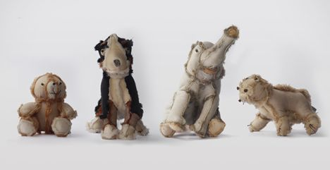 Outsiders - recycled insideout plush toys by Atelier Volvox. Magnificent! Must do as a diy.