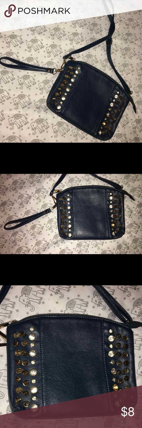Hobby lobby craft bags - Dark Blue Crossbody Spiked And Jewel Encrusted Dark Blue Crossbody Purse One Jewel Is