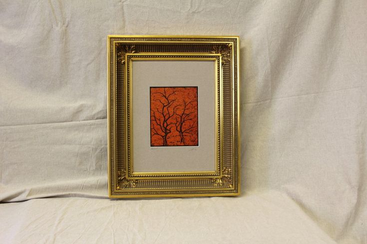 Print Art Print Herbstlaub In Passe Partout With Or Without Picture Frame Art Prints Picture Frames Art