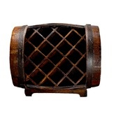 Found it at Wayfair - Asian Antique Wood Stained Barrow Wine Rack $197.99... Love this!