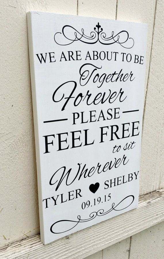 Wedding Seating Sign  Pick A Seat Wedding by CustomPaintedSigns4U