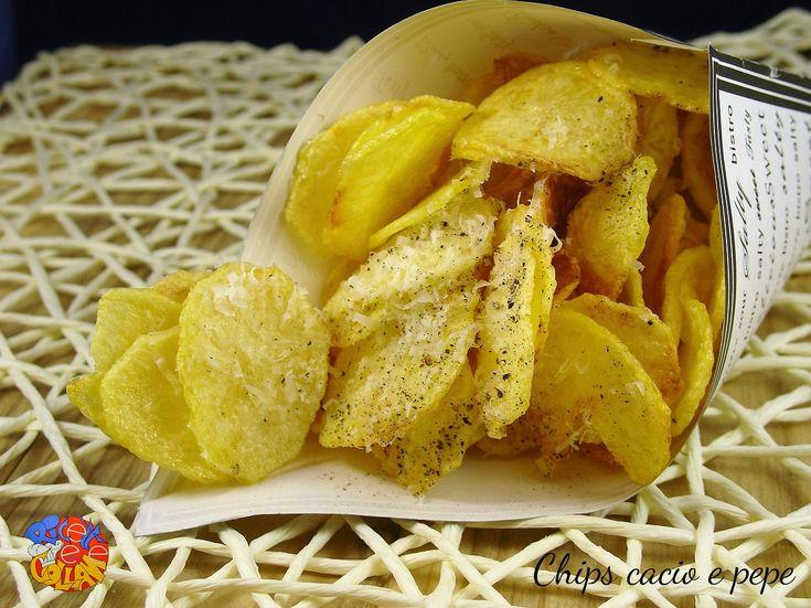 Chips+di+patate+cacio+e+pepe