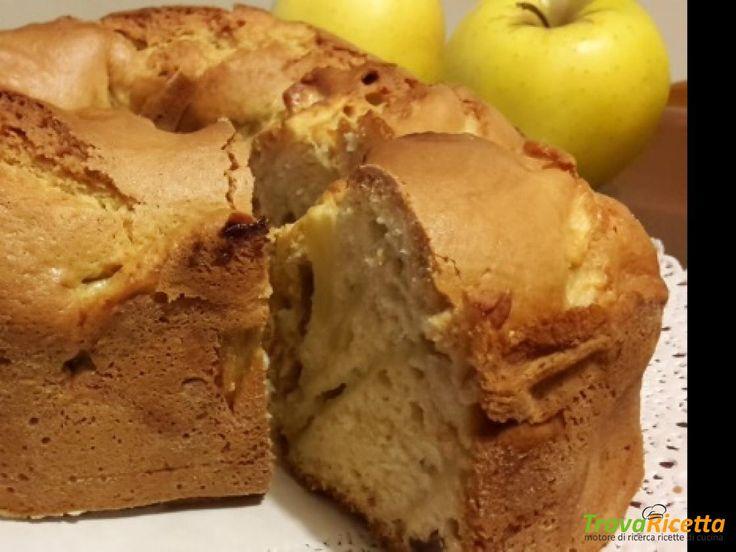 Ciambella soffice mele e uvette  #ricette #food #recipes