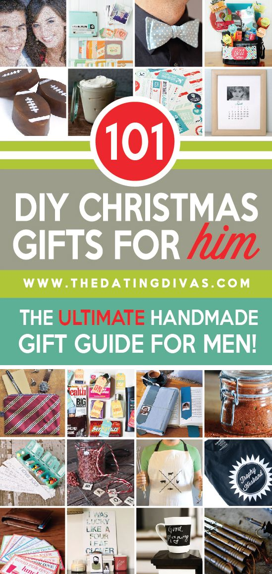 101 DIY Christmas Gifts for HIM- from romantic and sexy to sporty and personalized there's something for everyone here!