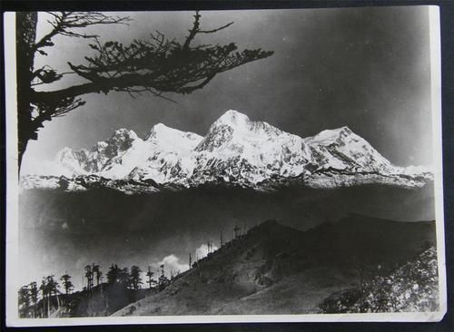 Photo of Mount Everest Before Peak Was Reached