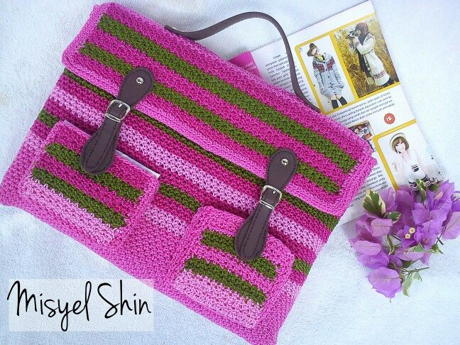 Crochet laptop bag                                                       …