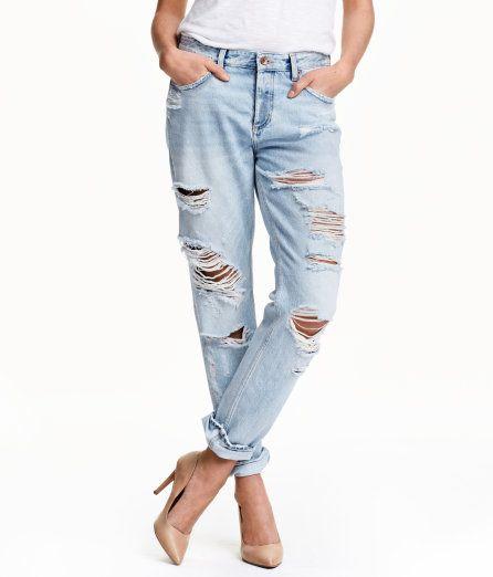 Zerrissene jeans hell damen
