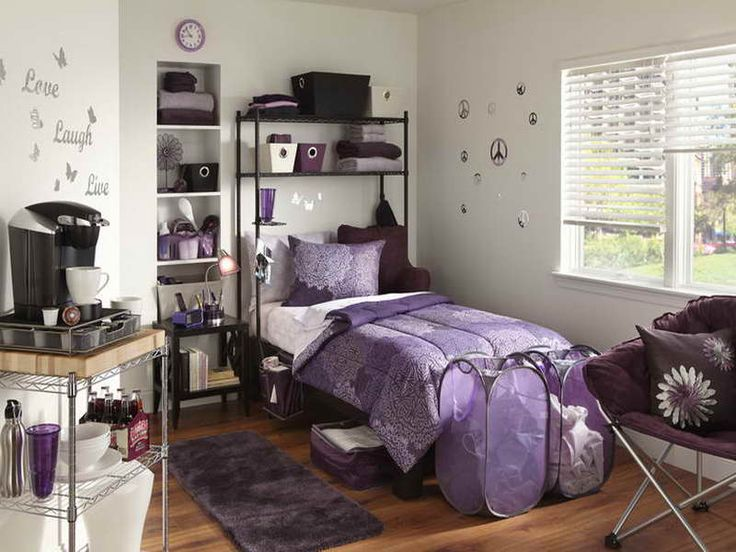 17 Best Ideas About Purple Dorm Rooms On Pinterest