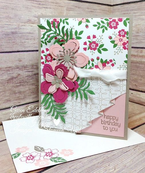 LOVE THIS FOLD AT LOWER RIGHT... Create with Gwen, Stampin' Up! Independent Demonstrator, Gwen Edelman, Create with Gwen: Drapery Look Fun Fold!