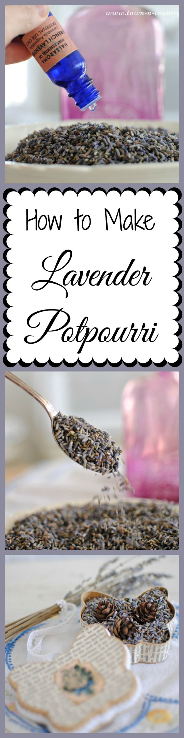 How to make lavender potpourri. Easy and inexpensive!