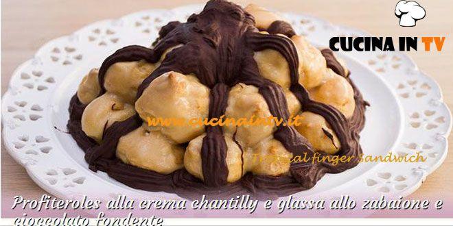 Profiteroles alla crema chantilly e glassa allo zabaione e cioccolato fondente ricetta Claudio da Bake Off Italia | Cucina in tv