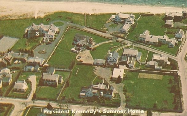Aerial view of the Kennedy compound in Hyannisport MA   K ...