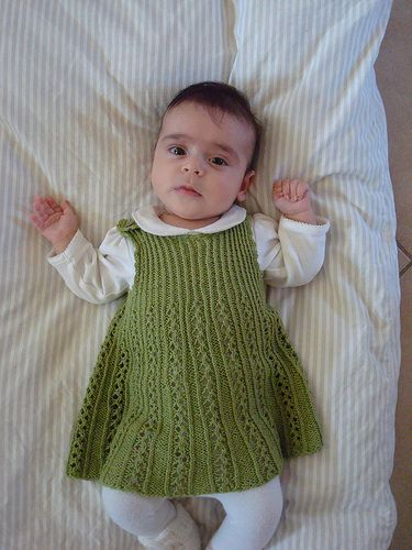 Ravelry: Tiny Ribbon Baby Dress pattern by Astrid Colding Sivertsen