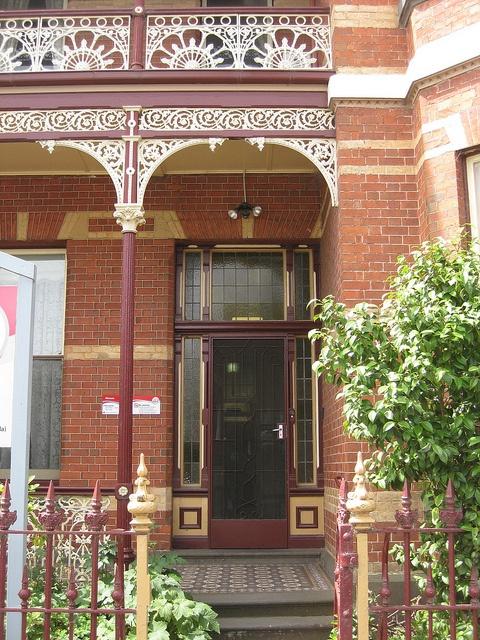 Australia~The Front Door of a Former Victorian Villa - Sturt Street, Ballarat ( 65 miles west-northwest of Melbourne) photo by raaen99, via Flickr