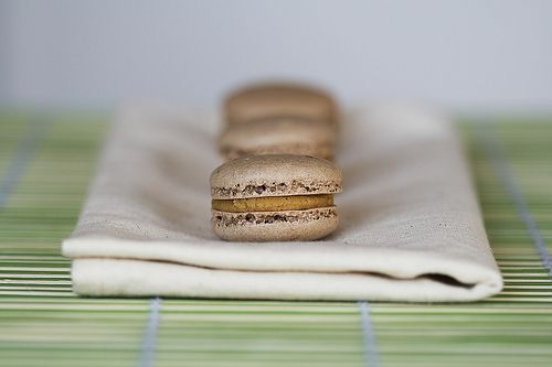 Chocolate Macarons with Salted Peanut Butter Filling
