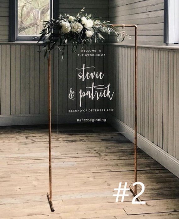 Custom Copper Wedding Welcome Sign Stand Etsy Wedding Welcome Signs Copper Wedding Wedding Signs