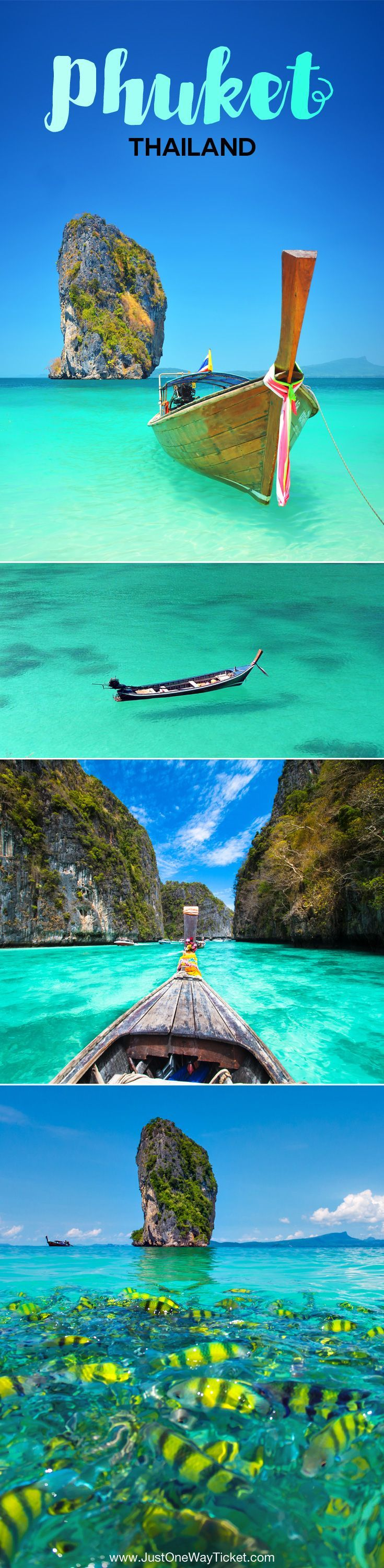 Travel Guide To Phuket: Things To Do in Phuket And Places To Stay | Phuket offers natural beauty, rich culture, white beaches, tropical islands and plenty of adventure activities | via @Just1WayTicket | Photo © Depositphotos