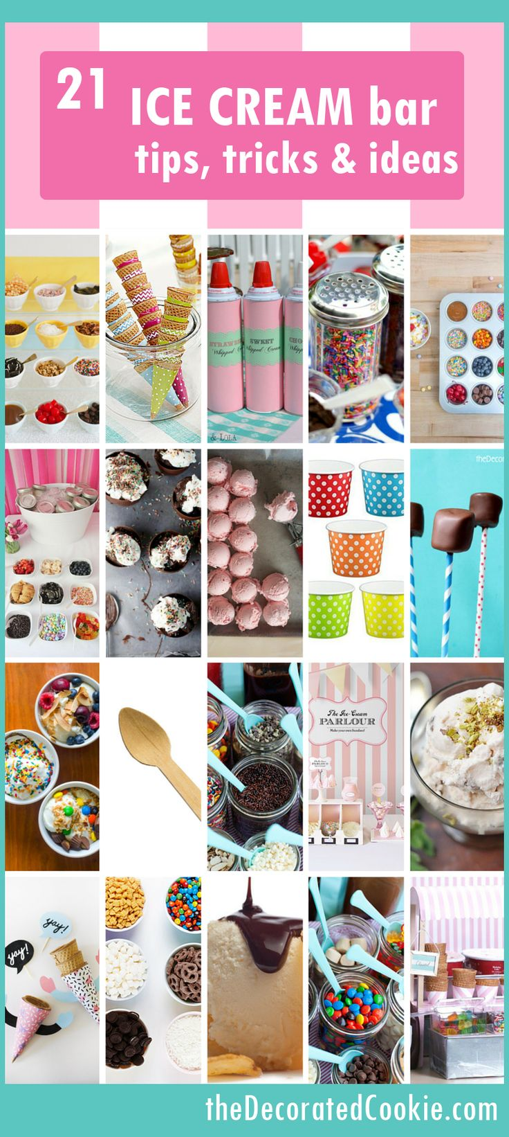 roundup: 21 ice cream sundae bar ideas: This summer with the kids!
